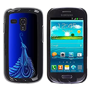 LECELL -- Funda protectora / Cubierta / Piel For Samsung Galaxy S3 MINI NOT REGULAR! I8190 I8190N -- Blue Dragon --