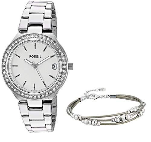 Fossil Women's 'Blane' Quartz Stainless Steel Casual Watch, Color:Silver-Toned (Model: ES4336SET) by Fossil