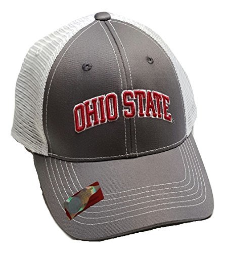 (Ohio State Buckeyes Adjustable Cap Mesh Back Hat )