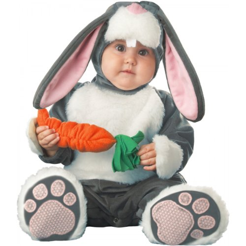 InCharacter Baby's Lil Character Baby Bunny Costume, Dark Grey/White/Pink, 6-12 (Infant Animal Character Costumes)