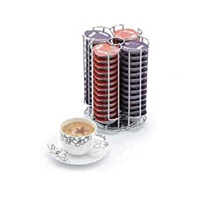 Genuine Poddy Holder Coffee Capsule Holder PoddyHolder Tassimo T-Disc Capsule Pod Holder stores up to 52 Bosch Tassimo T-Discs and rotates for ease of access Great Gift Idea
