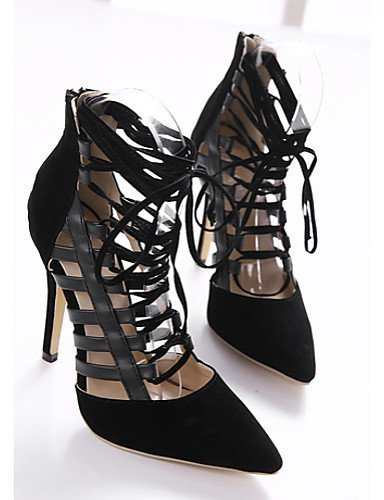 ShangYi Women's Shoes Stiletto Heel Heels Sandals Outdoor Black Black q6f7qg4IB3