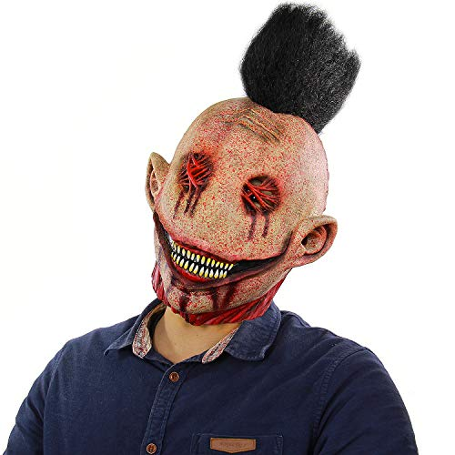 Scary Halloween Party Party Lifelike Monster Latex mask Halloween mask Scary Alien Red]()