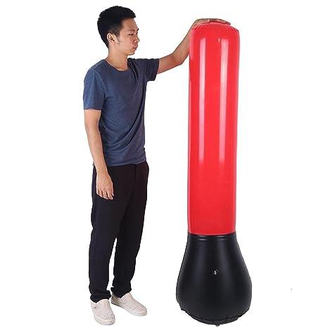 Zerone - Saco de Boxeo Hinchable de 160 cm de Altura + Bomba ...