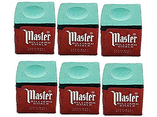 Half Dozen Green Master Pool Cue Chalk (6 Pieces)