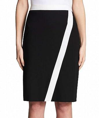 Calvin Klein Falda de lápiz Recta pequeña para Mujer - Negro - 40 ...