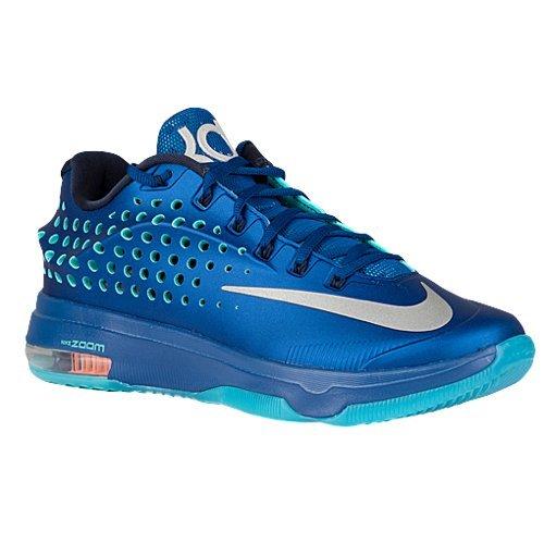 Nike KD VII ELITE Mens Sneakers 724349-404,Blue Graphite/Bright Citrus-Dove Grey-Volt,9.5 D(M) US