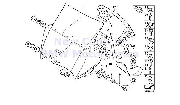 Amazon Com 2 X Bmw Genuine Motorcycle Windshield O Ring 6x1 8