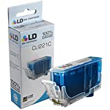 LD © Compatible Replacement for Canon CLI221 (2947B001) Cyan Inkjet Cartridge for use in Canon PIXMA MP620, iP3600, MP640, MP990, MX860, MP980, MP560, iP4700, MP620B, iP4600, & MX870 Printers