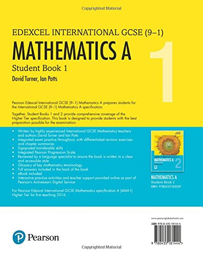 Edexcel international GCSE 9-1 . Students book 1. Mathematics A ...