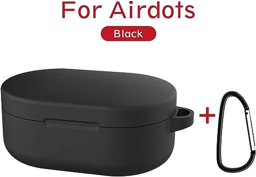 Funda de silicona protectora para caja de auriculares Xiaomi Redmi AirDots, acabado suave, con mosquetón, ideal como regalo para niñas, niños o mujeres: Amazon.es: Electrónica