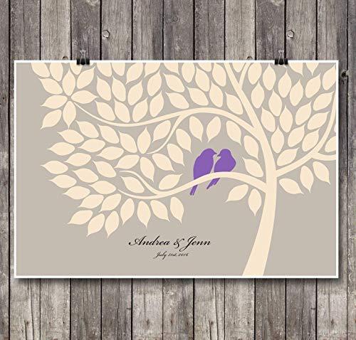 Alternative Wedding Anniversary Guest Book Poster Set -