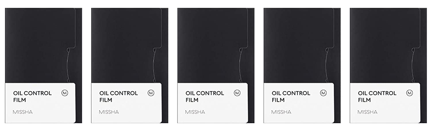 MISSHA Oil Control Film 50-Count Sheets (Pack of 5) (Total : 250 Sheets)