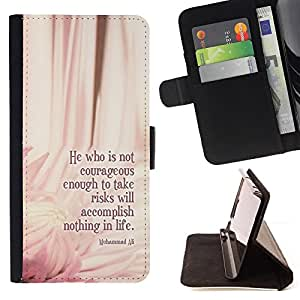 DEVIL CASE - FOR LG G2 D800 - Ali Boxing Quote Floral Pink Message - Style PU Leather Case Wallet Flip Stand Flap Closure Cover