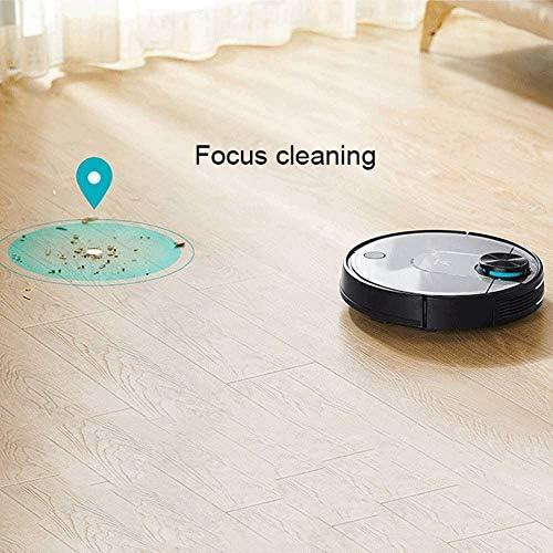 Bdesign Aspirateur Robot, Aspiration Forte, Super-Mince, Calme, de Recharge Automatique Aspirateur Robot, adapté for Les Poils d\'animaux, sols durs, Tapis