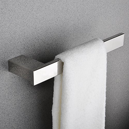 Towel Ring Open with 10-1/2 Inches Bar Rack Paper Towel Holder Bathroom Hardware Hand Towel Hanger Kitchen Shelf Organizer Stainless Steel Wall Mount Polished Chrome MARMOLUX Acc by Marmolux Acc