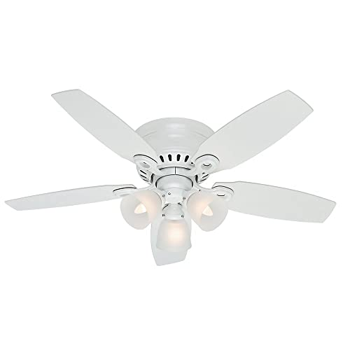 Hunter Fan Company Hunter 52087 Transitional 46 Ceiling Fan from Hatherton collection in White finish, inch