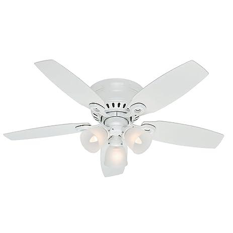 Hunter fan company 52087 hatherton 46 inch snow white ceiling fan hunter fan company 52087 hatherton 46 inch snow white ceiling fan with five snow white mozeypictures Gallery