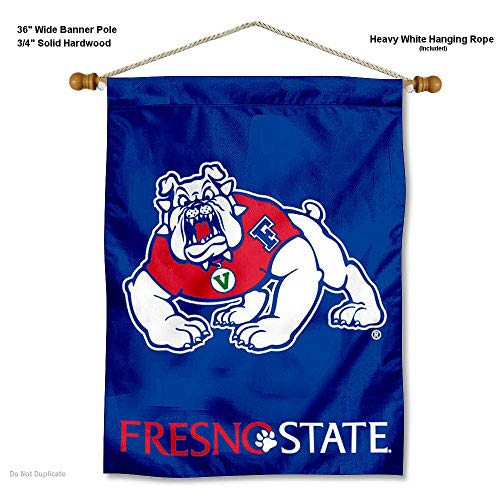 College Flags and Banners Co. Fresno State Bulldogs Banner with Hanging Pole