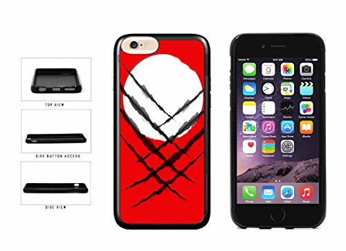 BleuReign(TM) Superhero Black Slashes On Japan Flag TPU RUBBER Phone Case Back Cover Apple iPhone 6 Plus and iPhone 6s Plus (5.5 inches screen) (Superhero Slash)