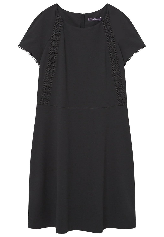 VIOLETA (Plus Size) - Decorative trim Evening dress - Size:14 - Color:Black