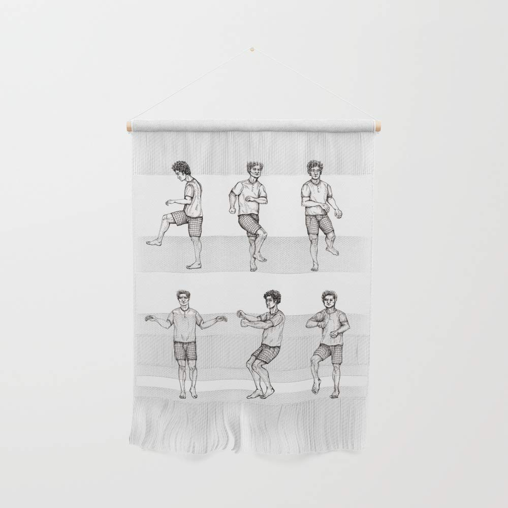 Society6 Wall Hanging, Size Small 11 1/4'' x 15 1/2'', Battiato Dance by requiredanimals