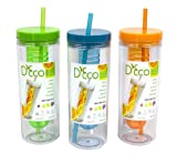 Best Other Fruit Infuser Bottles - Fruit Infuser Water Bottle with Straw - 20 Review