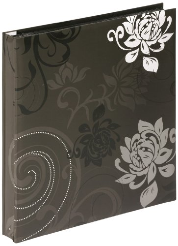 Walther Design EA-201-B Grindy Laminated Art Paper Slip-in Album, for 400 Photos 4 x 6 inch (10 x 15 cm), Black