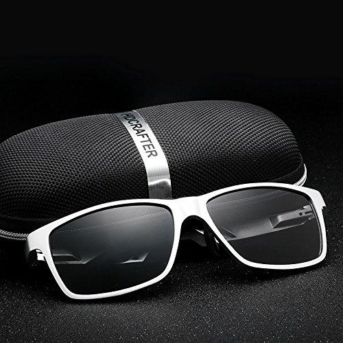 aleación de Shades Marco silver Gafas y Sol Ciclismo Silver Oculos Alta Conduce polarizada para Calidad Ruiyue de Pesca Resistencia Hombre de Que con wBRqYzOP