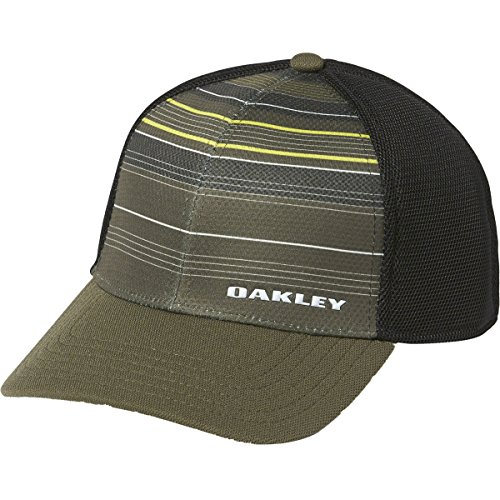 Oakley Men's Silicone Bark Trucker Print 2.0, Dark Brush, - Logos Oakley