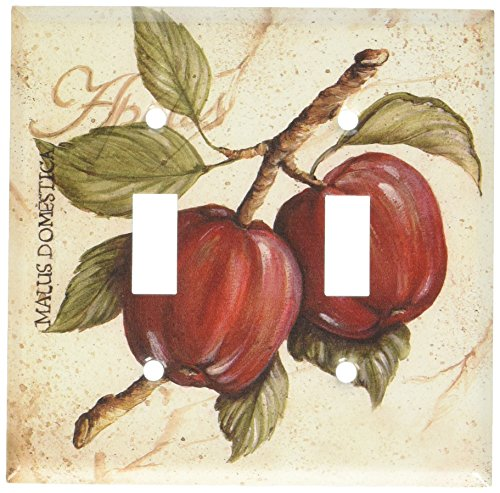 (Art Plates - Apples Switch Plate - Double Toggle)