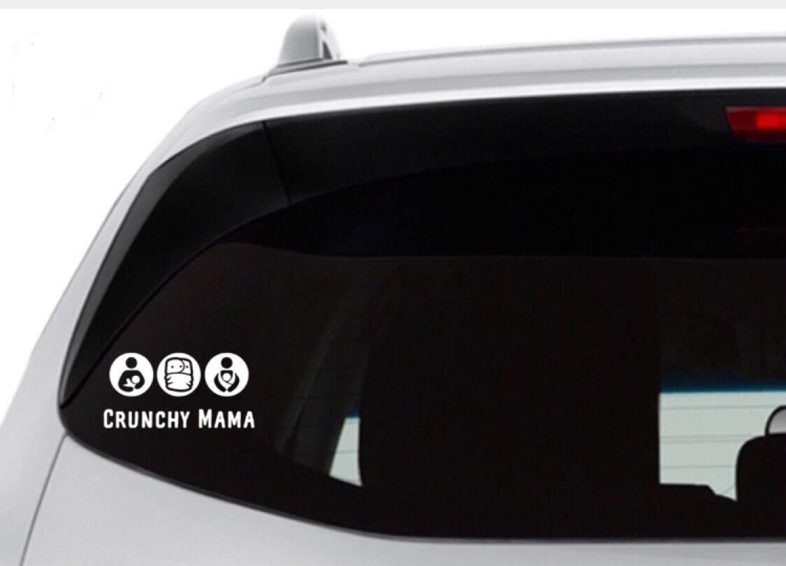 Car Decal Crunchy Mama