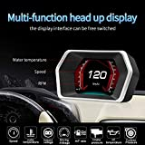"4"" Head up Display HUD Display Car OBD2 GPS Dual"