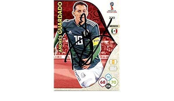 89a3ad691ea ANDRES GUARDADO SIGNED Panini Adrenalyn Mexico Soccer Trading Card Auto.  Genuine Autograph! COA at Amazon s Sports Collectibles Store