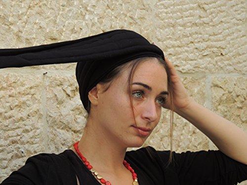 Sara Attali Design Tichel Volumizer Head Scarves, Chemo Volumizing Super Plus Black
