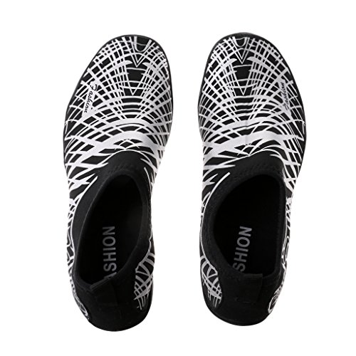 FITYLE Zapatos de Agua Multiusos de Caucho Buena para Deportes Ciclismo Yoga Súper Liviana Flexible Accesorios Plata