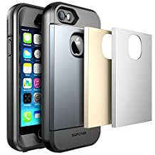 iPhone 5S Case, SUPCASE Water Resist Full-Body Rugged Case with Built-in Screen Protector for Apple iPhone 5S/5 - Retail Packaging - Space Gray/Silver/Gold