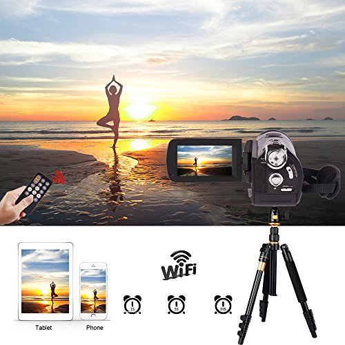 Camcorders, Full HD 1080P 30FPS Wifi Camcorder DVR Handy Video Camera Recorder with Infrared Night Vision, 3'' Touchscreen, IR Remote Control, 18X Digital Zoom and 72mm Ultra HD Wide Angle Lens by LAKASARA (Image #2)