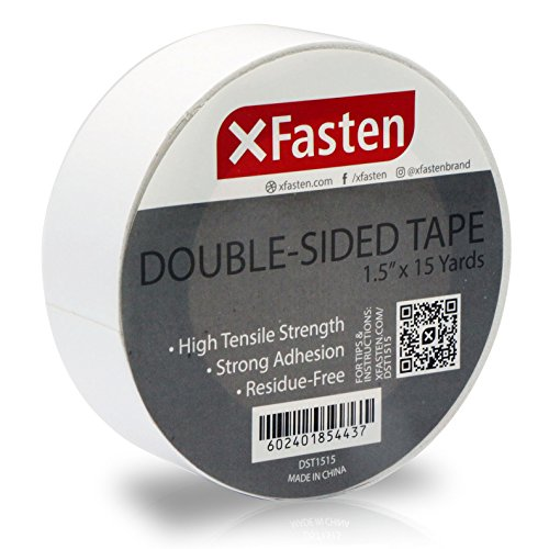 2 Heavy Tape Duty - XFasten Double Sided Tape, Removable, 1.5-Inch by 15-Yards, Single Roll