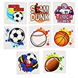 2'' Sports Tattoos, Assorted Styles And Colors. 288 Pieces.