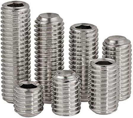 Dimensions: M3*6 mm Ochoos 10PCS DIN913 M3 M4 304 Stainless Steel Metric Thread Grub Screws Flat Point Hexagon Socket Set Screws Headless