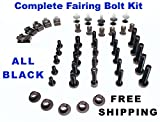 Black Complete Motorcycle Fairing Bolt Kit Honda CBR600RR 2003 - 2004 Body Screws, Fasteners, and Hardware