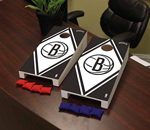 Victory Tailgate Brooklyn BKN Nets NBA Basketball Desktop Cornhole Game Set Diamond Version by Victory Tailgate