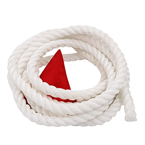 X XBEN Tug of War Rope with Flag for Kids, Teens and Adults, Soft Polypropylene Rope Games for Team Building Activities, Family Reunion, Birthday Party-15 Feet ()