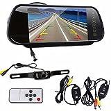 Hatop 7'' LCD Mirror Monitor+Wireless Car Reverse Rear View Backup Camera Night Vision