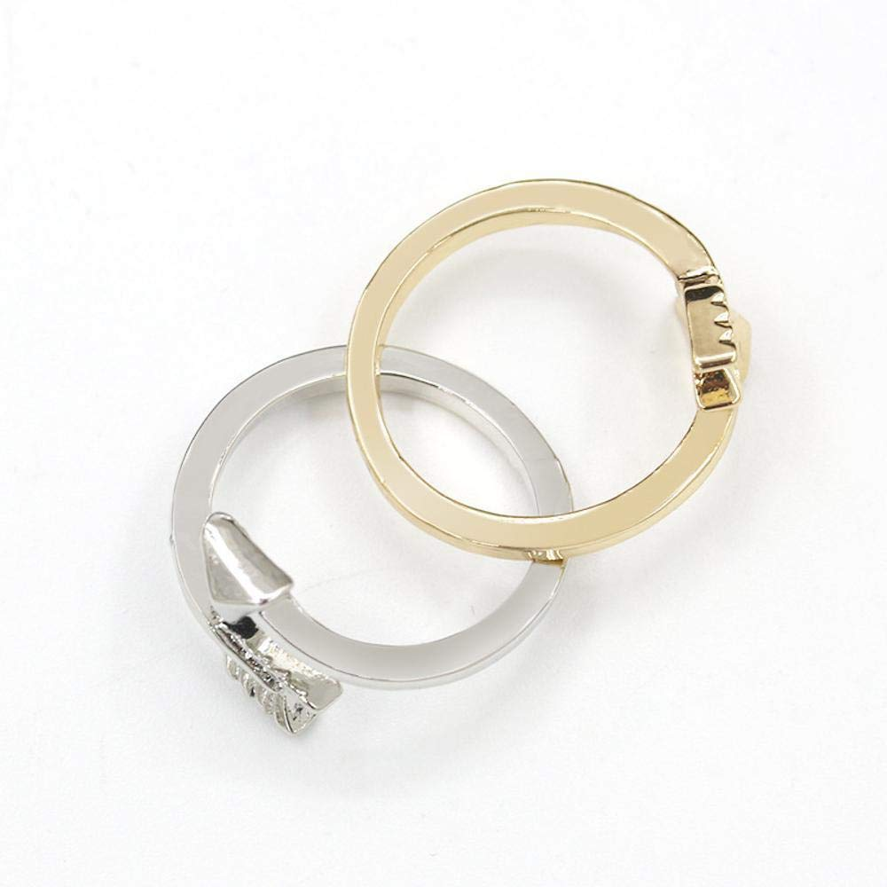 DTZH Rings Jewellery Ring Europe and The United States Simple Fashion Cross Arrow Alloy Ring Gift to Dear