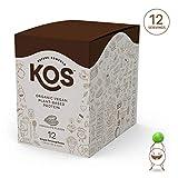KOS Organic Plant Based Protein Powder – Raw Organic Vegan Protein Blend, Box of 12 Single Serving Packets (Chocolate)