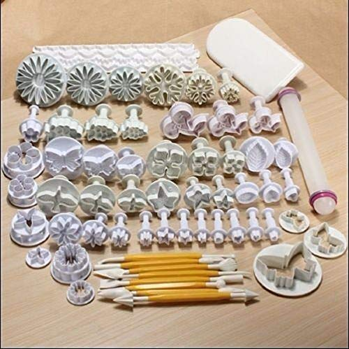 68 PCS Sugarcraft Cake Cookies Fondant Plunger Decorating Cutters Tools TkGear11 from TkGear11