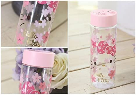 Pink Sanrio Hello Kitty Sakura Cherry Blossom Water Bottle BPA FREE