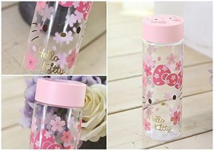 Sanrio Hello Kitty Tritan Water Bottle Clear Pink 18Oz Tumbler Travel Bottle